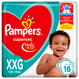 Pampers Supersec Pañales Desechables Xxg