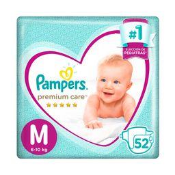 Pampers Premium Care Pañales Desechables M 52 Unidades