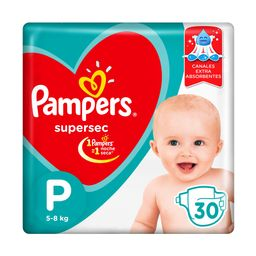 Pampers SuperSec Pañales Desechables P 30 Unidades