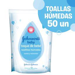 Toallitas Húmedas Johnson'S Baby Toque De Bebé + Gruesas 50 U