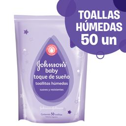 Toallitas Húmedas Johnson'S Baby Toque De Sueño + Gruesas 50 U