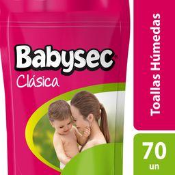 Toallitas Húmedas Babysec Clásicas 70 U
