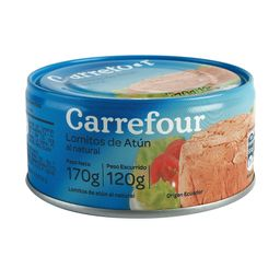 Atún Carrefour Al Natural Lomitos 170 G