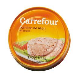 Lomitos De Atún Carrefour En Aceite 170 G
