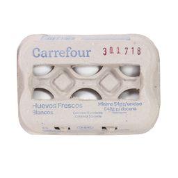 Huevos Blancos Carrefour 6 U