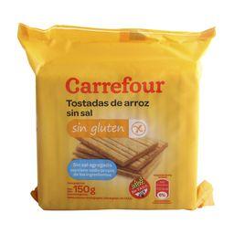 Tostadas De Arroz Sin Sal Carrefour 150 G Sin Tacc