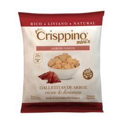 Galletas De Arroz Crisppino Jamón 50 G Sin Tacc