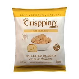 Galletita De Arroz Crisppino Queso 50 G Sin Tacc