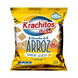 Bizcochos De Arroz Krachitos Queso 100 G Sin Tacc