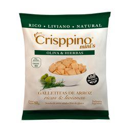 Galletita De Arroz Crisppino Oliva Y Hierbas 50 G Sin Tacc