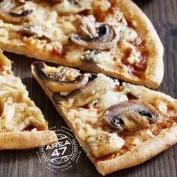 Pizza de Champiñones con Jamón