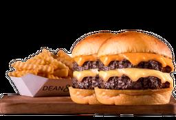 2 Cheeseburger Doble + Papas