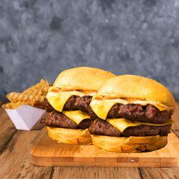 2 Cheeseburger Dobles & 1 Papas