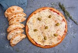 Pizza Muzarella Grande + 6 Empanadas