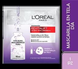 Mascarilla Tela L'Oréal Paris Revitalift Ácido Hialurónico X 1Un