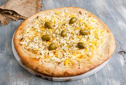 Pizza de Fugazzeta y Huevo