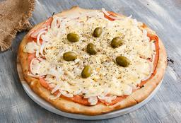Pizza de Fugazzeta y Jamón