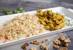 Combo- Pollo al Curry + Dip de Hummus