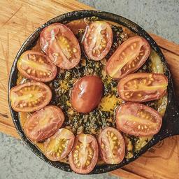 Provoleta Pesto y Cherries