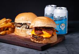 Combo Rappi - 2 Burgers + 2 Papas + 2 Bebidas