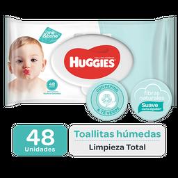 Toallas Húmedas Huggies Limpieza Total X 48 Un