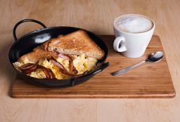 Egg Toast + Bacon