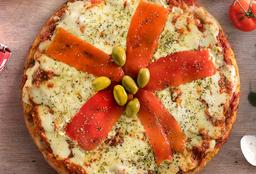 Pizza de Mozzarella y Jamón
