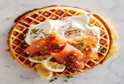 Waffle de Salmón