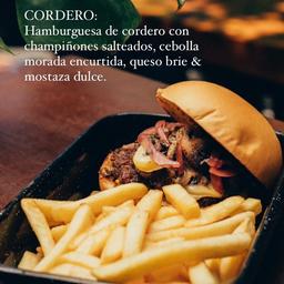 Burger Cordero & Papas