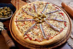Pizza de Anchoas con Muzzarella