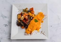 Merluza con Salsa de Zanahoria