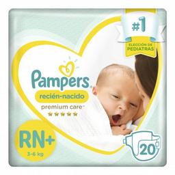 Pañales Pampers Active Baby Recién Nacido Extra Suave 20 U