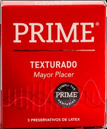 Preservativo Prime Rojo Texturado 3 U