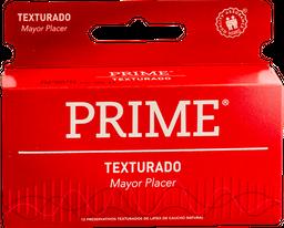 Preservativo Prime Rojo Texturado 12 U