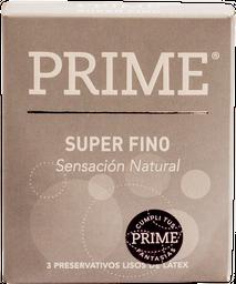 Preservativo Prime Gris Super Fino 3 U