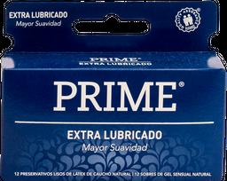 Preservativo Prime Azul Extra Lubricado 12 U