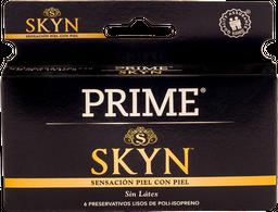 Preservativo Prime Skin Sensacion Piel Con Piel 6 U
