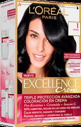 Tintura Permanente Excellence Creme De L'Oréal 1 Negro X47Gr