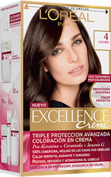 2 u Tintura Permanente Excellence Creme De L'Oréal 4 Castaño 4