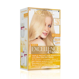 2 u Tintura Permanente Excellence Creme De L'Oréal 123 Rubio X4