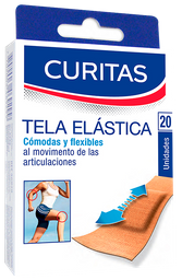 Tela Elástica Curitas Para Protejer Heridas 20 U