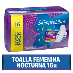 Toalla Femenina Siempre Libre Nocturna Max Suave 16 U