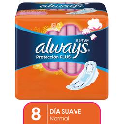 Toallas Femeninas Always Protección Plus Suave Con Alas 8 U