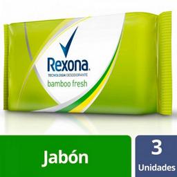 Jabón Rexona de Tocador Bamboo Fresh 125 g x 3 U