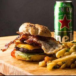 Burger Special, Fritas y Bebida