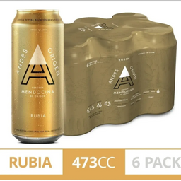 Six Pack Andes Rubia 473 ml