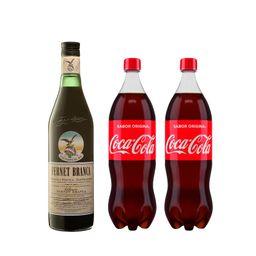 Combo Fernet Branca 750Ml + 2 Coca Cola + 1 Hielo 4Kg
