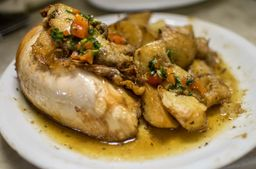 Pollo a la Provenzal + Papa