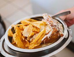 Pollo Al Roquefort con Fritas