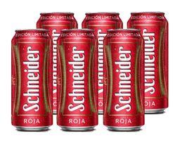 Six Pack Schneider Roja Lata 473ml Cerveza